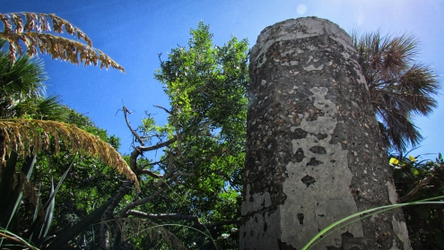 Since the main fire control tower could not provide adequate visual coverage over the shipping channel—where Battery Mellon's field of fire was concentrated—a second, dedicated control tower was built on the north end of the Egmont Key